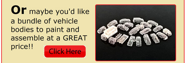 Or maybe you'd like a bundle of vehicle bodies to paint and assemble at a GREAT price!!