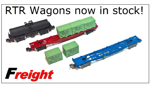 Freight - RTR Wagons now in stock!