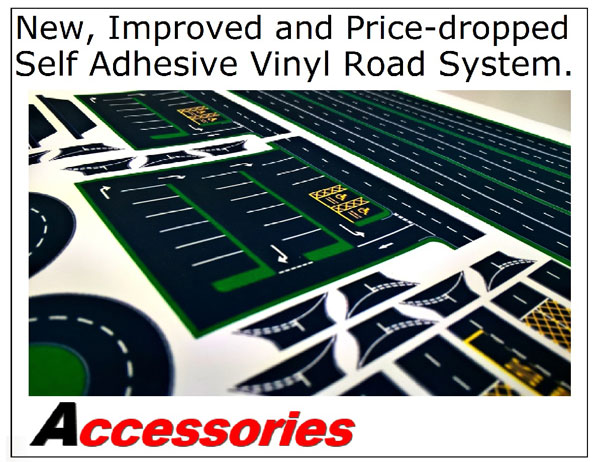 Accessories - New, Improved and Price-dropped Self Adhesive Vinyl Road System