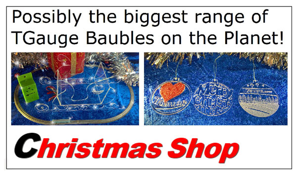 Christmas Shop - Possibly the biggest range of TGauge Baubles on the Planet!