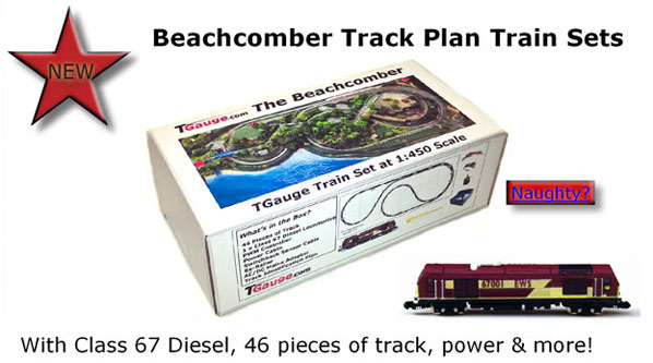 Beachcomber Track Plan Train Sets with Class 67 Diesel, 46 pieces of track, power & more!