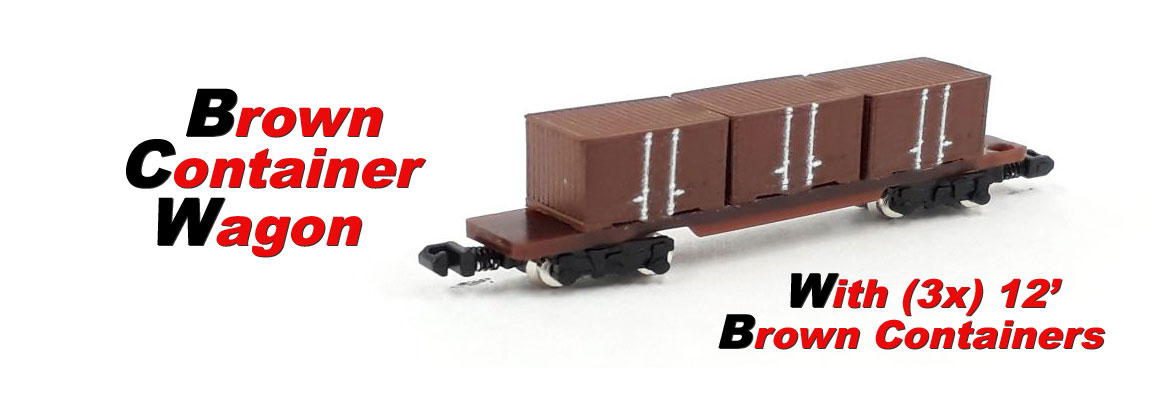 Brown Container Wagon